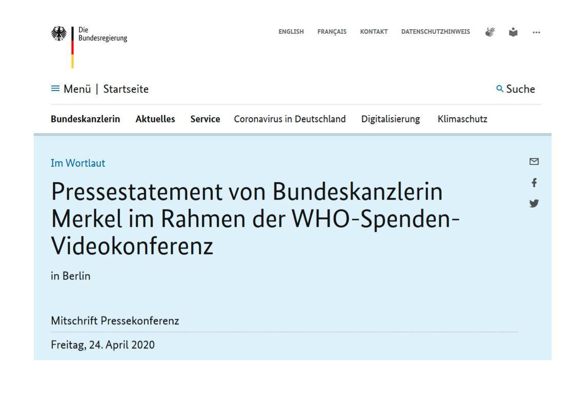 Pressestatement Merkel 24.4.20